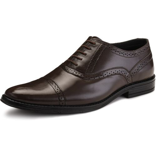 LOUIS STITCH Handmade Finest Quality Genuine Leather Shoes for Men Lace Up For Men(Brown)