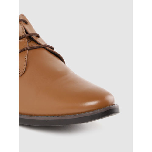 Lee Cooper Men Brown Leather Semiformal Derbys