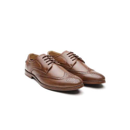 Carlton London Men Brown Formal Brogues