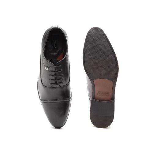 Carlton London Men Black Solid Formal Oxfords