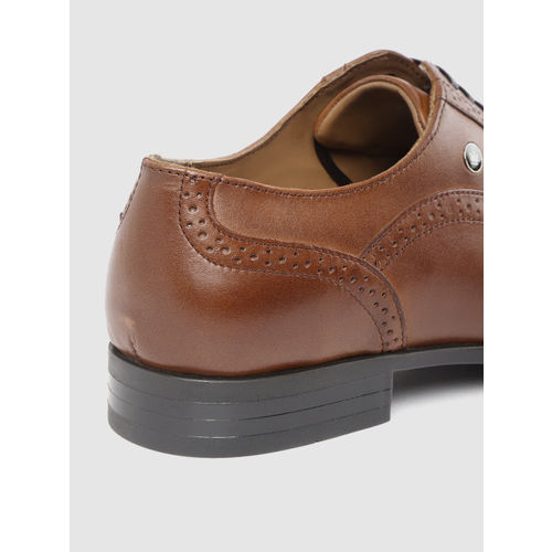 Louis Philippe Men Brown Leather Formal Brogues