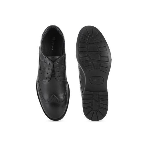 Van Heusen Men Black Leather Brogues