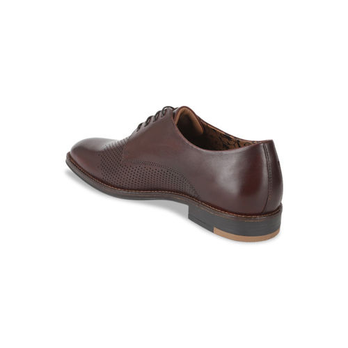 Van Heusen Men Brown Leather Derbys
