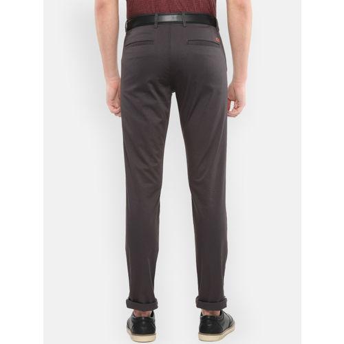 Van Heusen Sport Men Grey Slim Fit Solid Regular Trousers