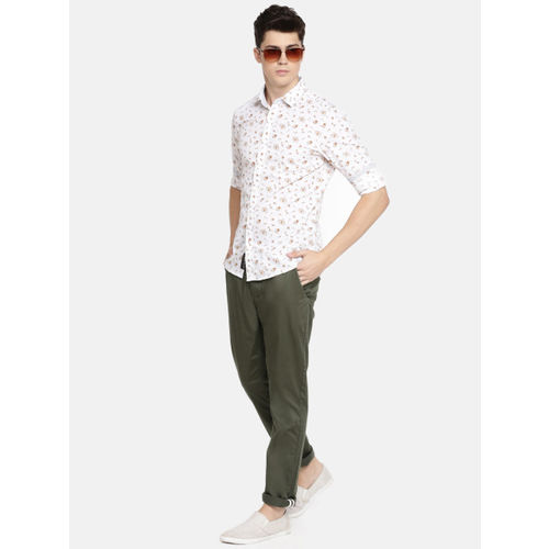 Being Human Men Olive Green Regular Fit Solid Chinos