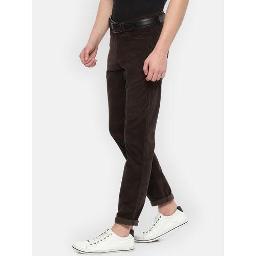 Van Heusen Sport Men Brown Slim Fit Solid Regular Trousers