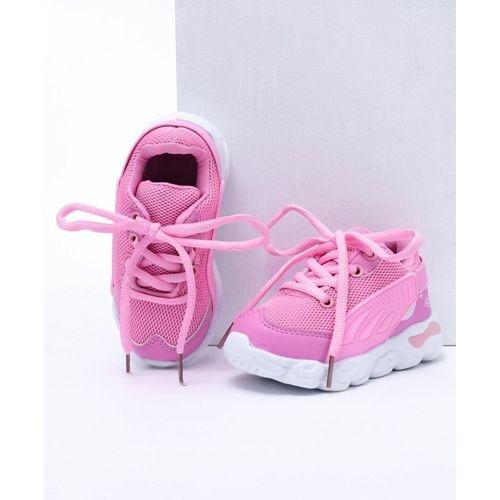 Cute Walk by Babyhug Pink Mesh Sport Shoes