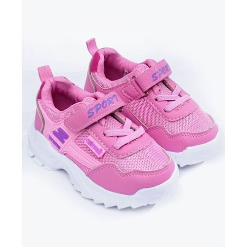 Cute walk by Babyhug Pink Mesh Low Ankle Round-toe Sports Shoes