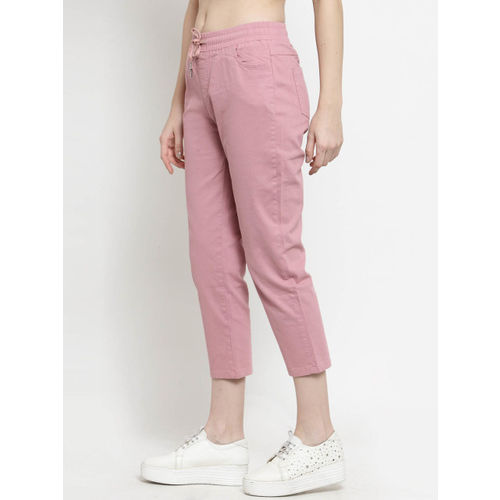 Global Republic Women Pink Skinny Fit Solid Cigarette Trousers