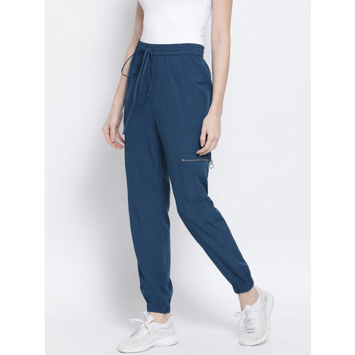 Oxolloxo Women Navy Blue Regular Fit Solid Joggers