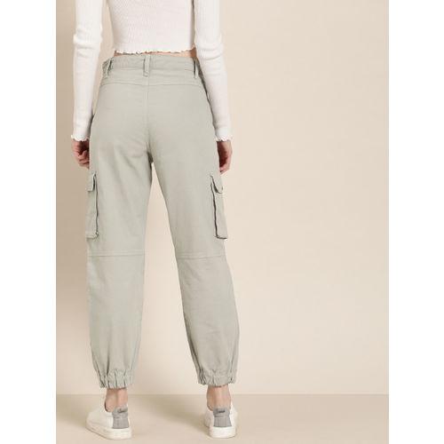 Moda Rapido Women Grey Regular Fit Solid Joggers