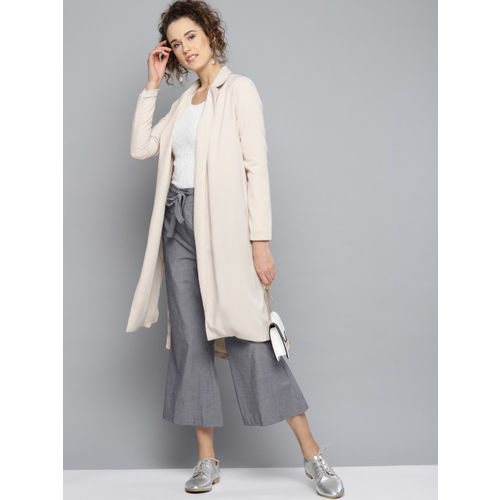 RARE Women Grey Regular Fit Solid Parallel Trousers