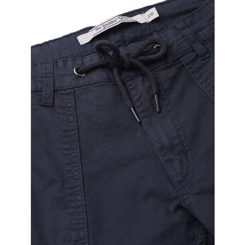 Roadster Women Navy Blue Regular Fit Solid Cropped Chinos