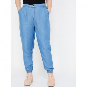 nexus Women Blue Regular Fit Solid Joggers