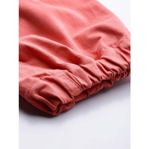 Moda Rapido Women Pink Regular Fit Solid Cargos