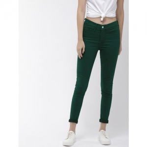 Levis Women Teal Green 310 Shaping Super Skinny Fit Solid Regular Trousers
