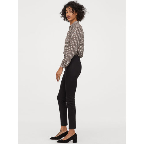 H&M Women Black Solid Superstretch Trousers