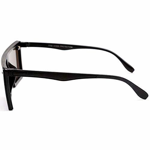 Dervin Flat Design Rectangular Sunglasses for Men & Women (Blue)