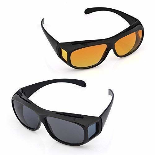 Buy Alquila HD Vision Day and Night Riding Trendmi Nightdrive Easy Wrap  Around Anti-Glare Polarized Lens Unisex Sunglass for All Bikes Car Drivers  (Yellow-Black) online | Looksgud.in