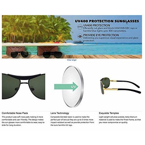 Silver Kartz Metal-Crown Wayfarer Rectangular Combo Unisex Sunglasses (AV035|40|Multicolour)