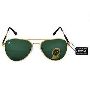 Piraso Branded Aviator Sunglass For Boys-Men-Girls-Women-3026-Gold-Green-B