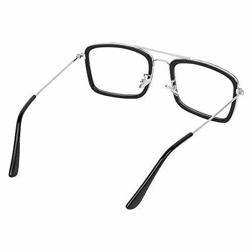 Black Eagle Tony Stark Iron Man Mirror Black Metal Men's and Women's Sunglasses (H1GKR-T012, Transparent)