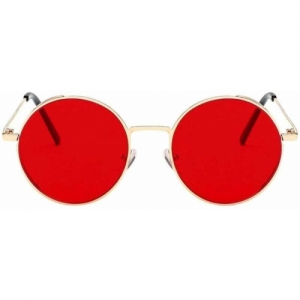 Phenomenal Round Unisex Sunglasses (Red)