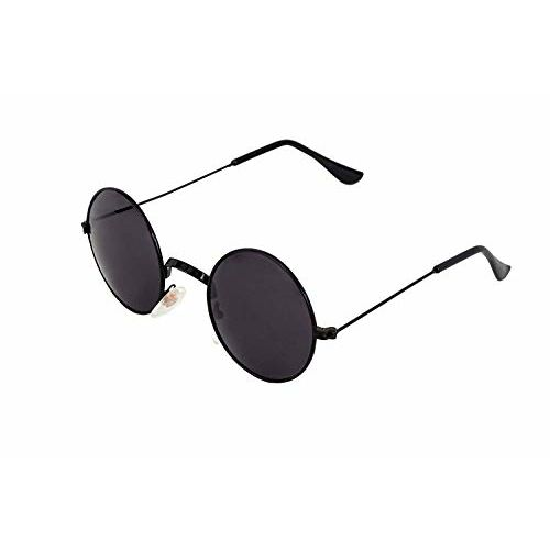 Hippon Black Round Sunglasses for Men And Women