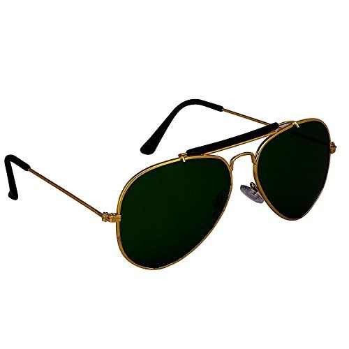 Silver Kartz Unisex UV400 Protection Bar Aviator Sunglass (wy79, Green)