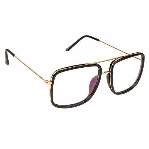 ETRG Square Metal Body Men's and Women's Sunglasses (Transparent)
