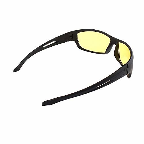 Dervin UV Protection Wrap Around Night Drive Men's and Women's Sunglasses (Yellow) Combo of 2