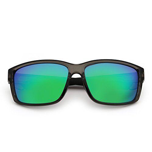 JIM HALO Polarized Sports Sunglasses Mirror Wrap Around Driving Fishing Men Women