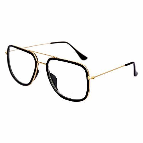 Dervin Tony Stark Iron Man Avengers Infinity War Men's Sunglasses/Spectacle Frames (Transparent)