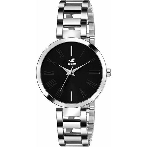 Espoir MSHBLK0607 Stainless Steel Silver Analog Watch - For Women