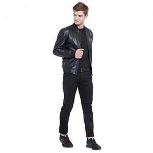 ROADIES BY JUSTANNED Men Bomber Moto Jacket