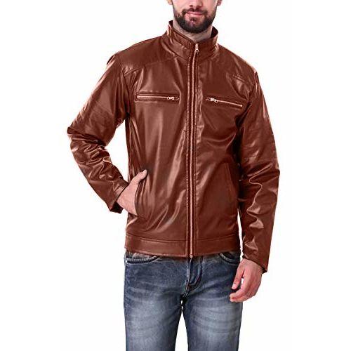 Banter Men's Dark Brown Faux Leather Jacket