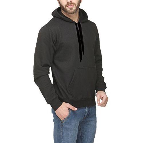 Scott International Men's Premium Rich Cotton Pullover Hoodie Sweatshirt - Black