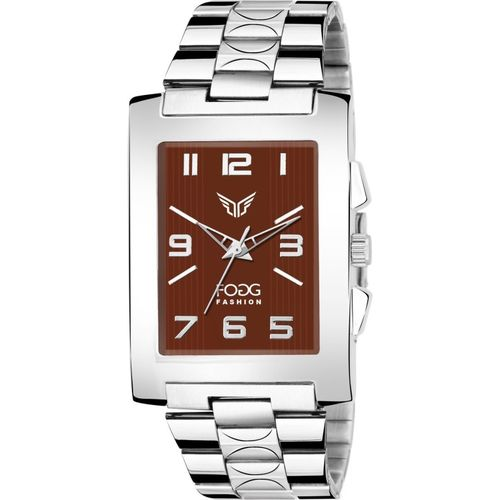 Fogg 2064-BR Brown Square New Analog Watch - For Men