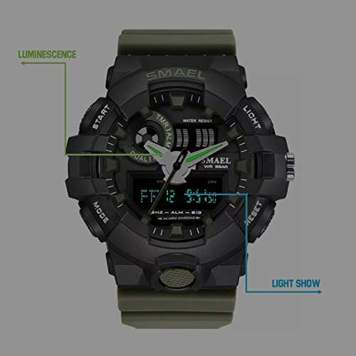 Skmei S-Shock SkmeiMW56A Olive Analog-Digital Sports Watch
