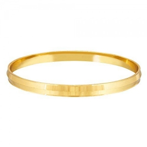 Shining Jewel - By Shivansh Shining Jewel 22k Gold Plated Punjabi Sikh Kada for Men (SJ_3089)