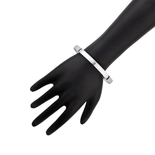 Shining Jewel 925 Sterling Silver Designer Om Kada Bracelet for Men