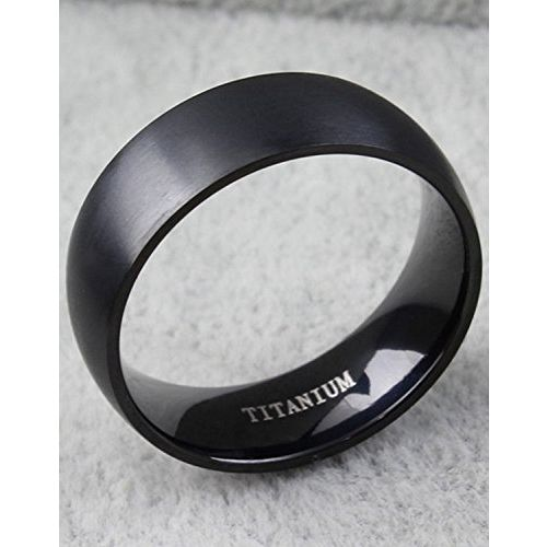 Yellow Chimes Western Style Titanuium Black Band Ring for Men and Women