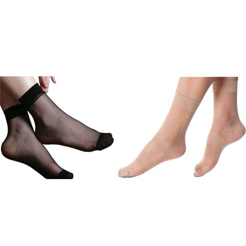 NAWAB Women Solid Ankle Length(Pack of 2)