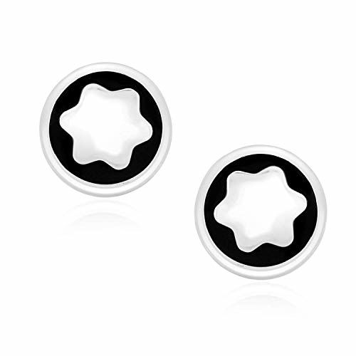 Peora Silver Plated Montblanc Iconic Star Logo Cufflinks for Men Boys Business Gift
