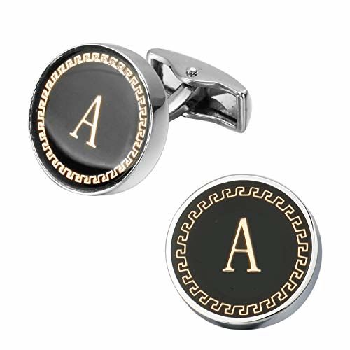 Yellow Chimes Exclusive Collection Alphabet A Statement Cuff Links by Yellow Chimes Silver Plated Cufflink for Men