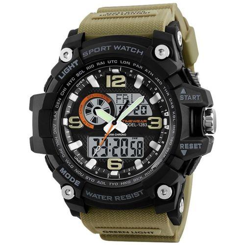 TIMEWEAR 1283KHAKITW Timewear Military Series Analogue Digital Black Dial Watch for Men Analog-Digital Watch - For Men