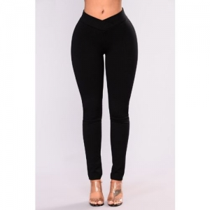 SIGHTBOMB Solid Women Black Tights