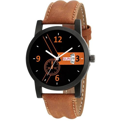 Keepkart 1514-BR Brown Day and Date Unique New Mens Analog Watch - For Men