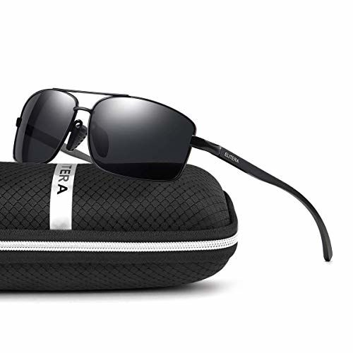 ELITERA Lightweight Rectangle Polarized Sunglasses Aluminum Magnesium Frame E2458