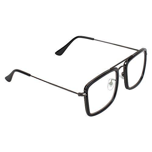 Zyaden Black Rectangluar Unisex Eyewear Frame 377